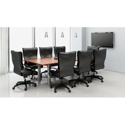 Rectangular 29.25H x 48W x 96L Conference Table Set Top Finish: Cherry
