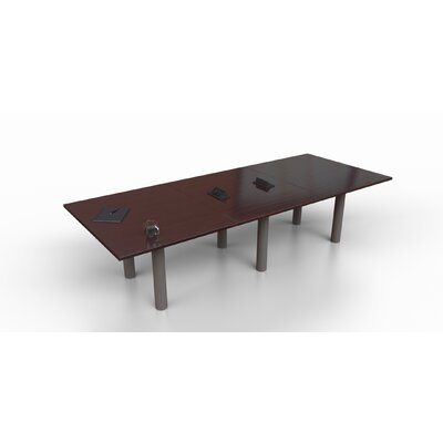Rectangular 29.25H x 48W x 144L Conference Table Top Finish: Mahogany, Size: 29.25 H x 120 W x 48 D