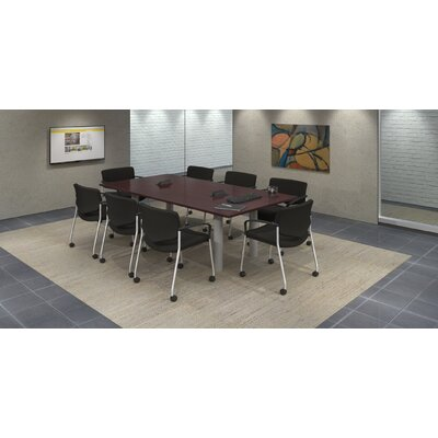 Rectangular 29.25H x 48W x 96L Conference Table Set Top Finish: Mahogany