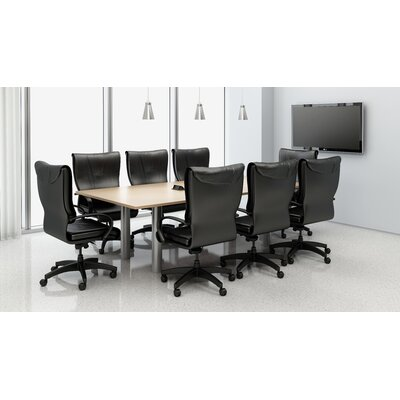 Rectangular 29.25H x 48W x 96L Conference Table Set Top Finish: Maple