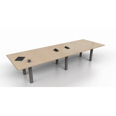 Rectangular 29.25H x 48W x 144L Conference Table Top Finish: Maple, Size: 29.25 H x 144 W x 48 D