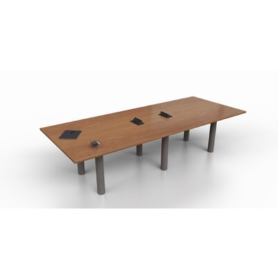 Rectangular 29.25H x 48W x 144L Conference Table Top Finish: Cherry, Size: 29.25 H x 120 W x 48 D
