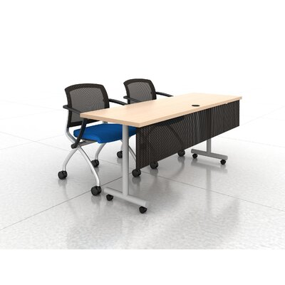 72 W Training Table with Mesh Modesty