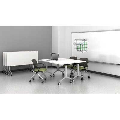 Flip Top Mobile Training Table Size: 28.75 H x 72 W x 30 D