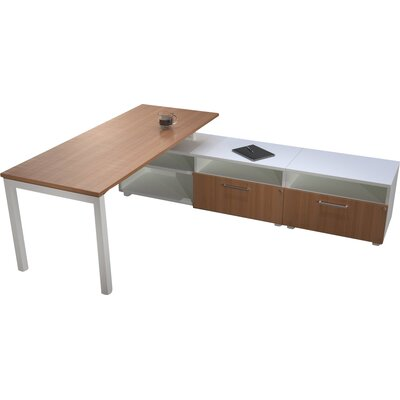 L Shape Writing Desk Low Storage Trig Product Picture 1