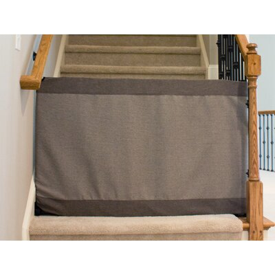 "Wall to Banister Safety Gate Size: 32"" H x 44"" - 52"" W, Finish: Modern Gray BWSMGW-0415"
