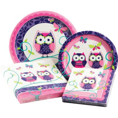 Owl Pal Birthday Party Table Ware Kit 315711