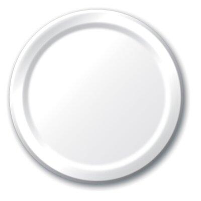 """Dinner Plates 8.75"""" 24/Pkg White 47000B"""