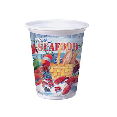 Seafood Celebration Plastic Cup 012325