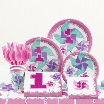 81 Piece One Little Star Boy 1st Birthday Plastic/Paper Tableware Set DTC5510C2A
