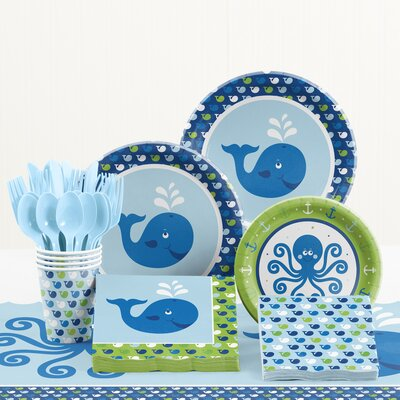 81 Piece Ocean Preppy Birthday Tableware Set DTC5016C2A