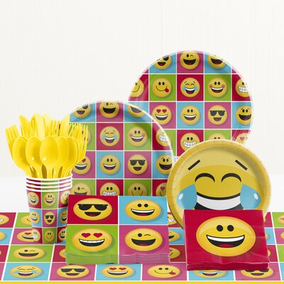 81 Piece Show Your Emotions Birthday Paper/Plastic Tableware Set DTC2328E2A
