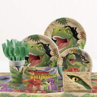 81 Piece Dino Blast Birthday Paper/Plastic Tableware Set DTC5012C2A