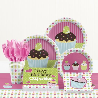 81 Piece Sweet Treats Birthday Paper/Plastic Tableware Set DTC5011C2A