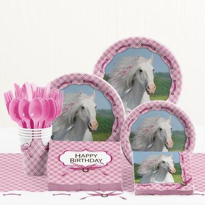 81 Piece Heart My Horse Birthday Paper/Plastic Tableware Set DTC5601C2A
