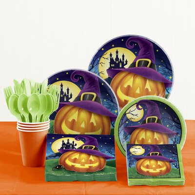 81 Piece October Eve Halloween Tableware Set DTC2587E2A