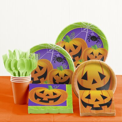81 Piece Jolly Jack Halloween Tableware Set DTC2588E2A