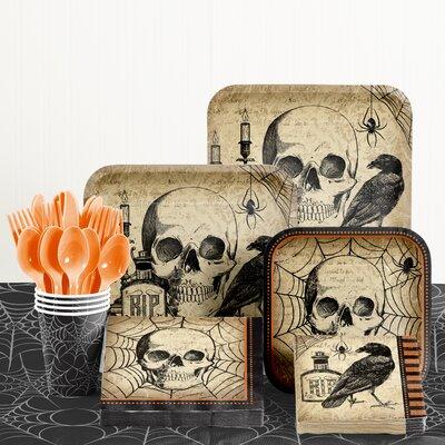 81 Piece Spooky Symbol Halloween Tableware Set DTC2592E2A