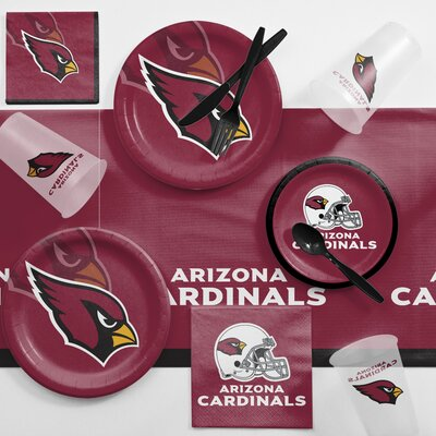 NFL Game Day Party Supplies 81 Piece Dinner Plate Set NFL: Arizona Cardinals DTC9501C2A