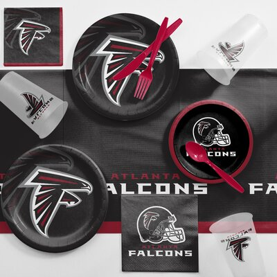 NFL Game Day Party Supplies 81 Piece Dinner Plate Set NFL: Atlanta Falcons DTC9502C2A