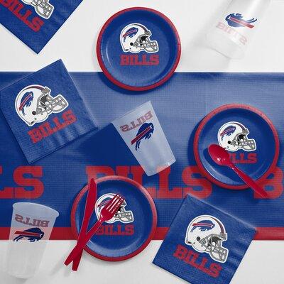NFL Tailgating 56 Piece Dinner Plate Set NFL: Buffalo Bills DTC9504C2B