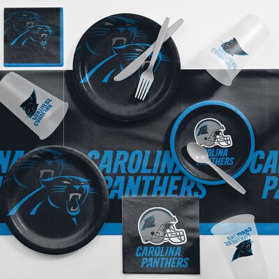 NFL Game Day Party Supplies 81 Piece Dinner Plate Set NFL: Carolina Panthers DTC9505C2A