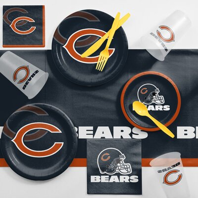 NFL Game Day Party Supplies 81 Piece Dinner Plate Set NFL: Chicago Bears DTC9506C2A