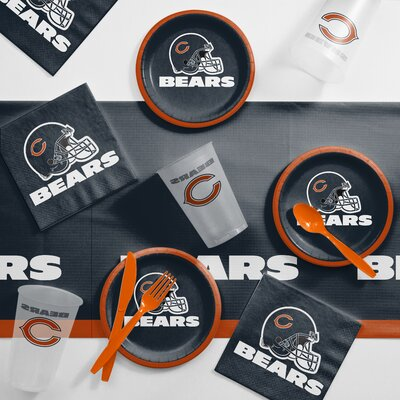 NFL Tailgating 56 Piece Dinner Plate Set NFL: Chicago Bears DTC9506C2B