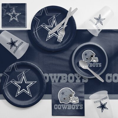 NFL Game Day Party Supplies 81 Piece Dinner Plate Set NFL: Dallas Cowboys DTC9509C2A