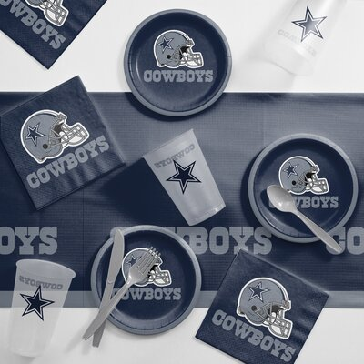 NFL Tailgating 56 Piece Dinner Plate Set NFL: Dallas Cowboys DTC9509C2B