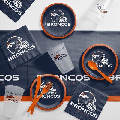 NFL Tailgating 56 Piece Dinner Plate Set NFL: Denver Broncos DTC9510C2B