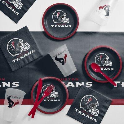 NFL Tailgating 56 Piece Dinner Plate Set NFL: Houston Texans DTC9513C2B