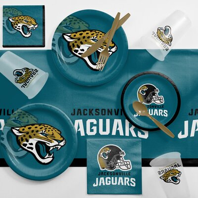 NFL Game Day Party Supplies 81 Piece Dinner Plate Set NFL: Jacksonville Jaguars DTC9515C2A