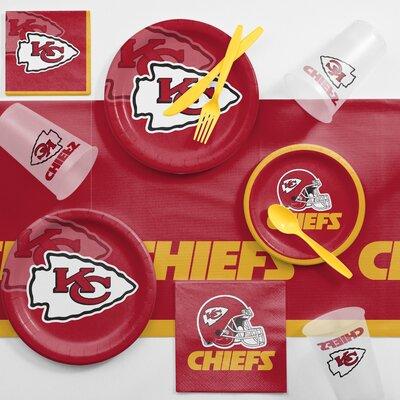 NFL Game Day Party Supplies 81 Piece Dinner Plate Set NFL: Kansas City Chiefs DTC9516C2A