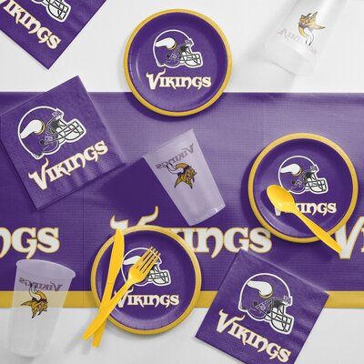 NFL Tailgating 56 Piece Dinner Plate Set NFL: Minnesota Vikings DTC9518C2B