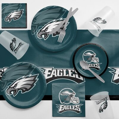 NFL Game Day Party Supplies 81 Piece Dinner Plate Set NFL: Philadelphia Eagles DTC9524C2A