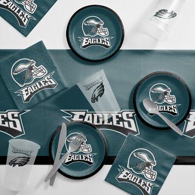 NFL Tailgating 56 Piece Dinner Plate Set NFL: Philadelphia Eagles DTC9524C2B