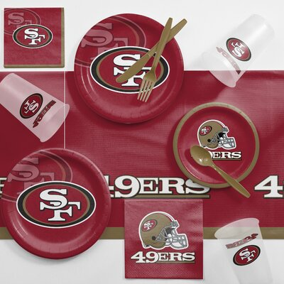 NFL Game Day Party Supplies 81 Piece Dinner Plate Set NFL: San Francisco 49ers DTC9527C2A