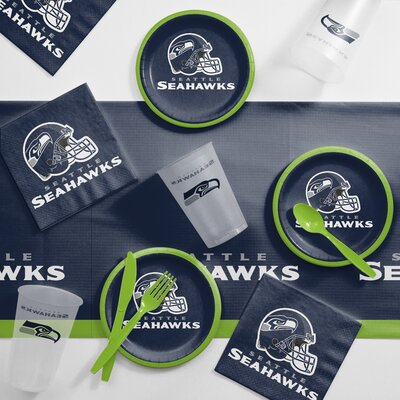 NFL Tailgating 56 Piece Dinner Plate Set NFL: Seattle Seahawks DTC9528C2B