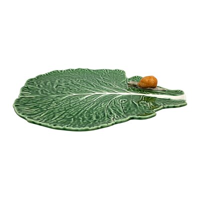 Cabbage Leaf With Snail