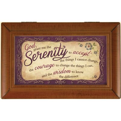 Decorative Serenity Prayer Music Box