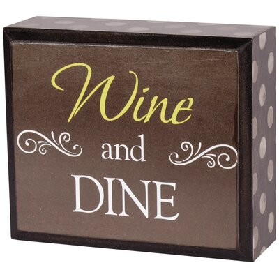 Decorative Wine And Dine Table Letter Block