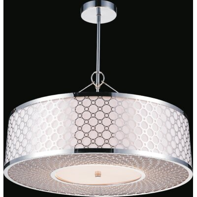 5-Light Drum Pendant Size: 60 H x 22 W x 22 D