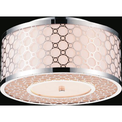 3-Light Flush Mount