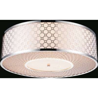 5-Light Flush Mount Size: 8 H x 20 W x 20 D