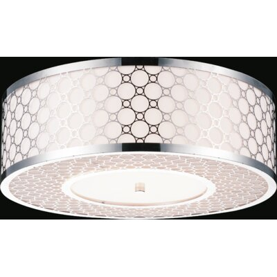 5-Light Flush Mount Size: 8 H x 22 W x 22 D