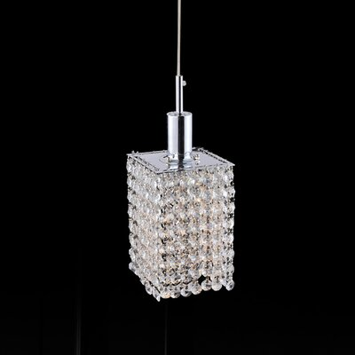 Boleyn Crystal 1-Light Mini Pendant Finish: Champagne