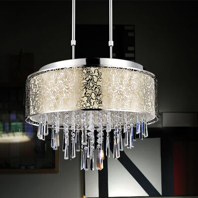 9-Light Pendant Shade Color: Off White