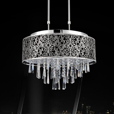 9-Light Pendant Shade Color: Black