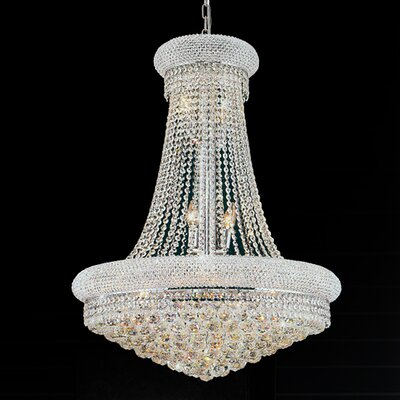 18-Light Empire Chandelier Size: 40 H x 32 W x 32 D
